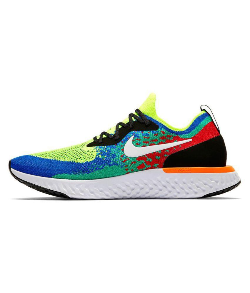 superior performance new appearance 100% top quality Nike EPIC REACT FLYKNIT 2 NEON RED NEW YORK Multi Color Running Shoes