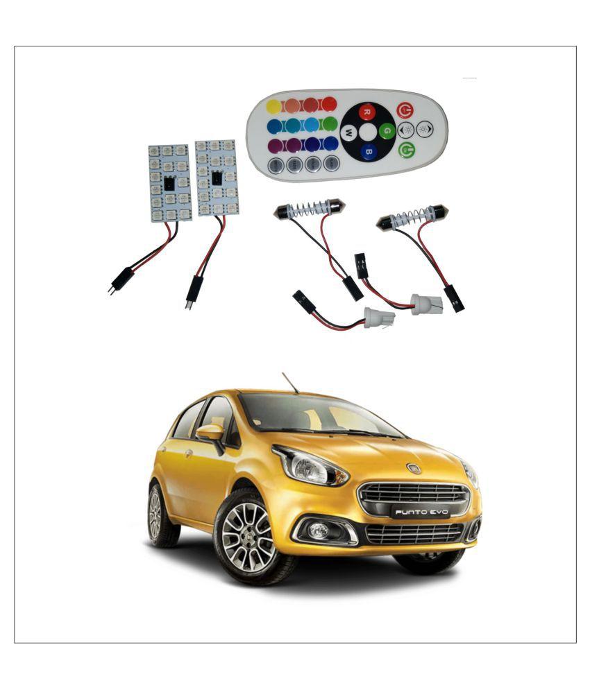 Trigcars Fiat Punto Evo 2X16 Colors Rgb Bright 5050 Led Car Roof Dome Light Festoon + T10 Ir Remote + Free Bluetooth