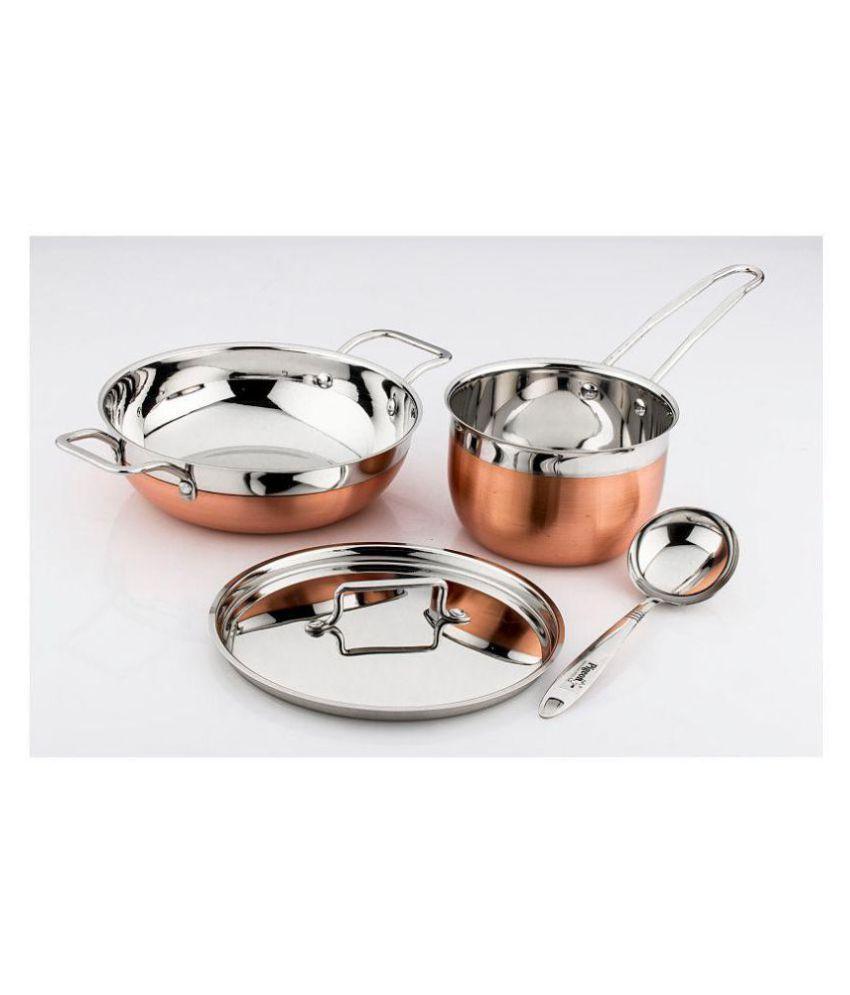 Pigeon Neo copper bottom 4 Piece Cookware Set