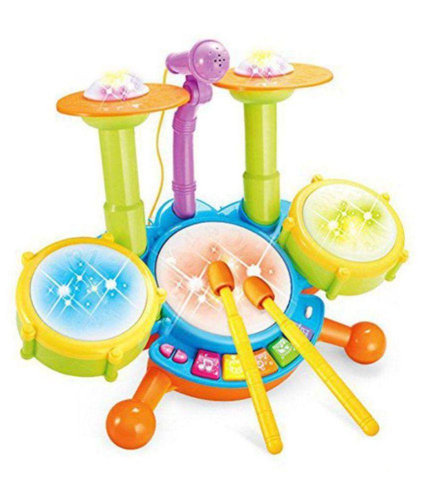 maruti enterprise Dynamic Fun Beats Jazz Musical Drum Set With MIC Toys