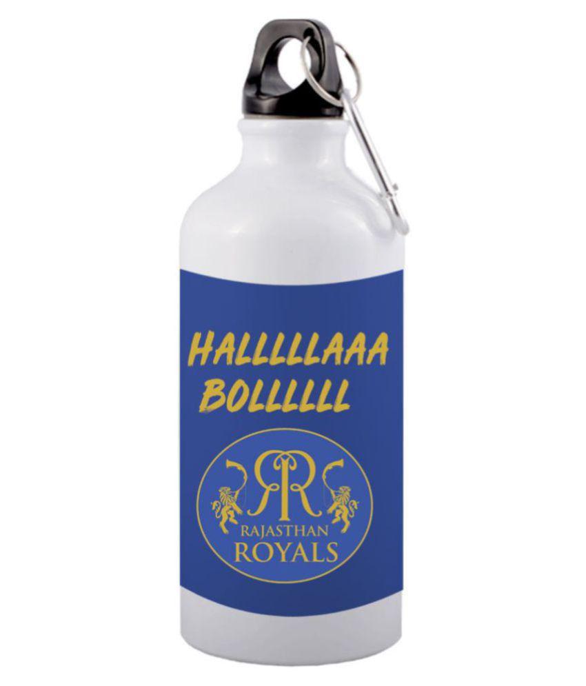 COLOR YARD best IPL design printed White 600 ml Aluminum Water Bottle Set of 1