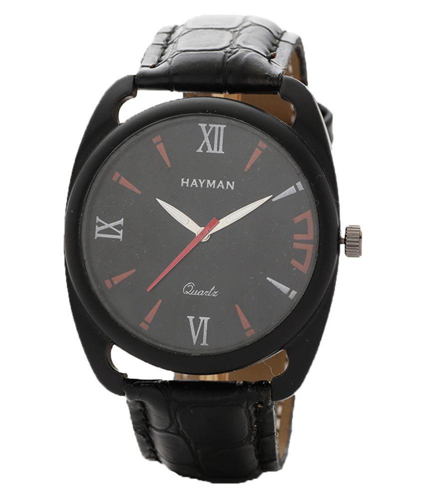 Hayman Analog Black Dial  Boys Watch (W-45)
