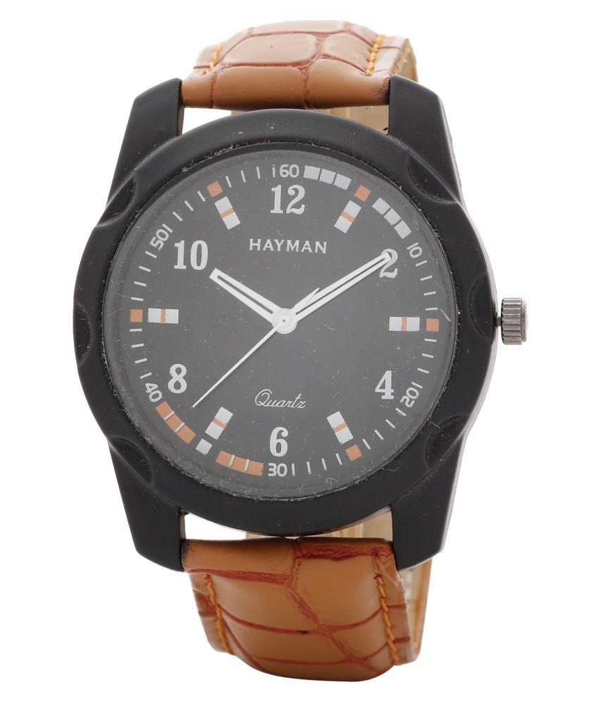 Hayman Analog Black Dial Boys Watch (W-20)