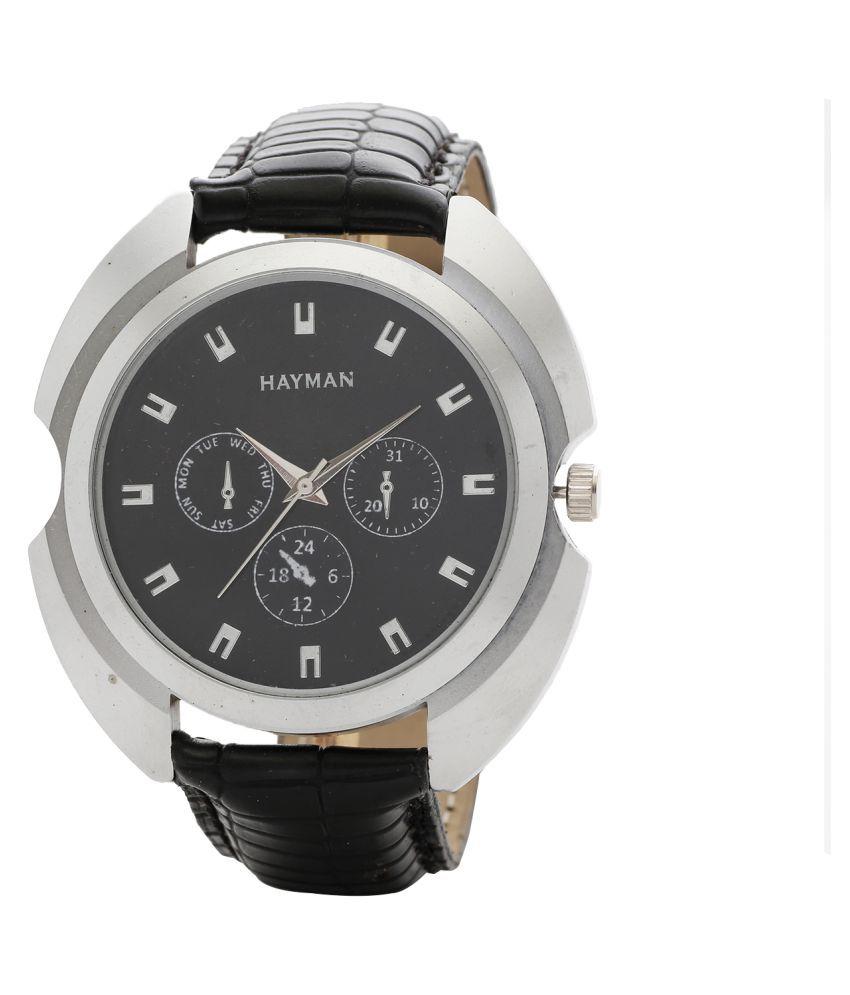 Hayman Analog Black Dial  Boys Watch (W-59)