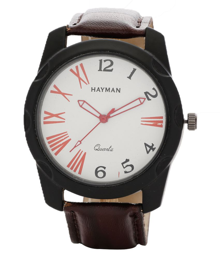 Hayman Analog Off-White Dial  Boys Watch (W-80)