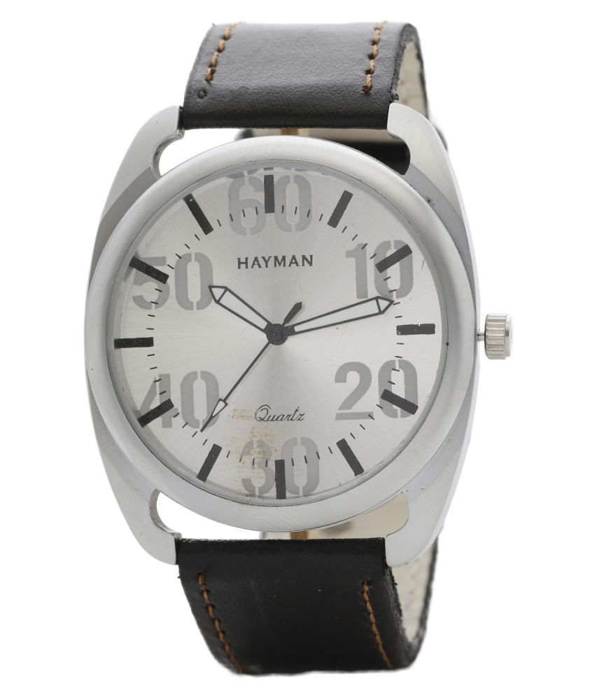 Hayman Analog Silver Dial Boys Watch (W-32)