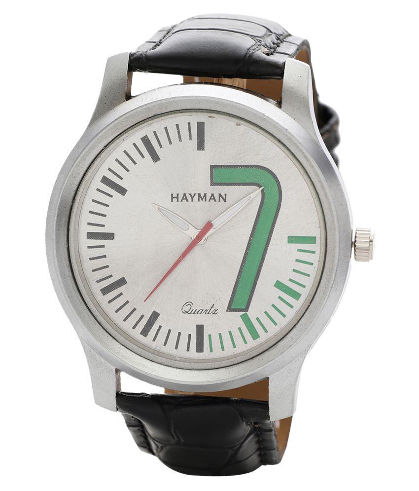 Hayman Analog Silver Dial  Boys Watch (W-69)
