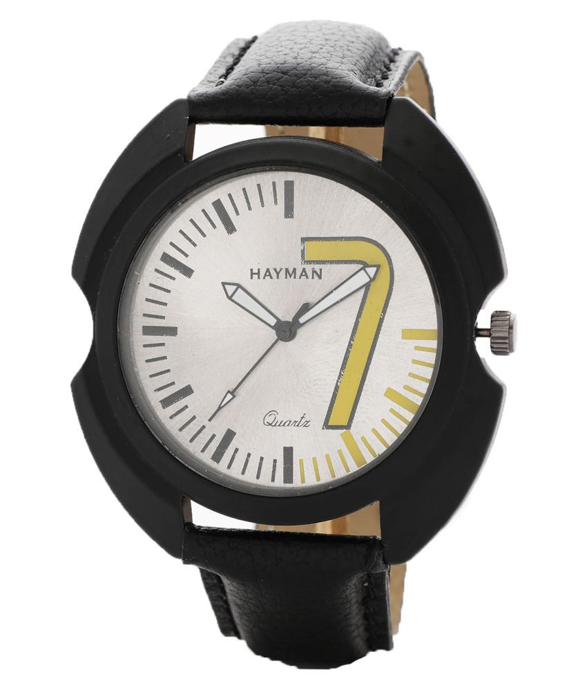 Hayman Analog White Dial Boys Watch (W-65)