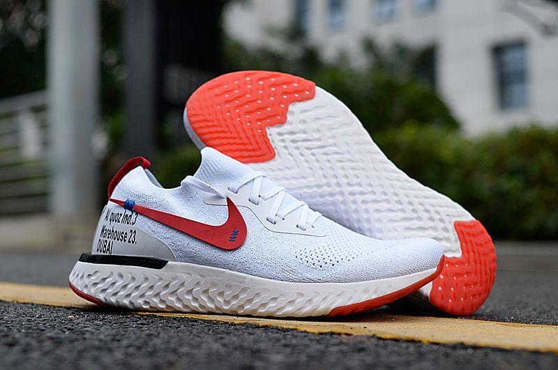 crema Dejar abajo colateral  Nike EPIC REACT FLYKNIT DUBAI GYM werhouse White Running Shoes Price in  India- Buy Nike EPIC REACT FLYKNIT DUBAI GYM werhouse White Running Shoes  Online at Snapdeal