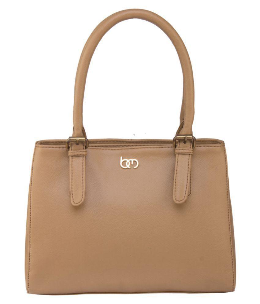 Bagsy Malone Beige Faux Leather Shoulder Bag