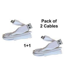 Vivo Adapter USB Data Cable White - 1 Meter