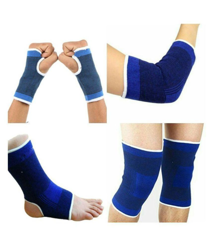 Combo Of Ankle support Knee Brace Support Elbow support and Palm Support