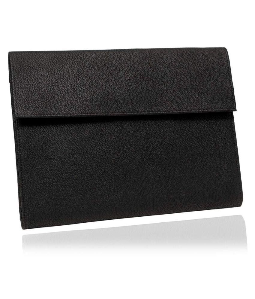 Office File Folder Leatherette Material Professional Conference Files, Conference Folder A4 for Documents (Black, Size: A4, Set of 1) - Use for Office & Personal