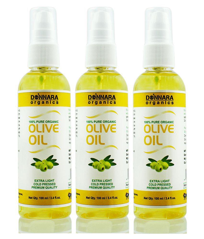 Donnara Organics 100% Pure & Natural Olive oil- 300 ml Pack of 3