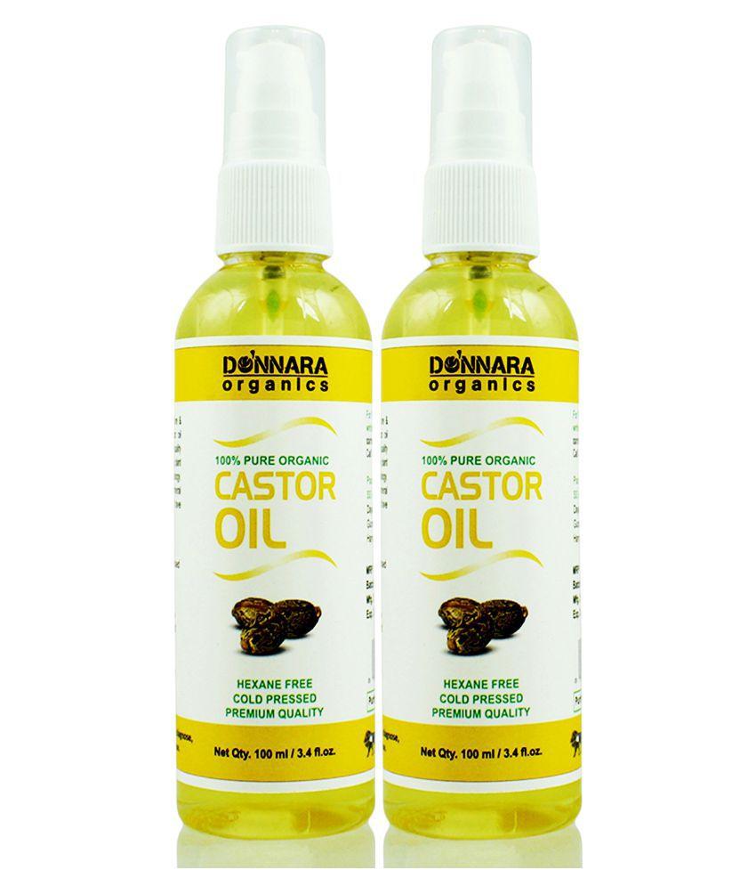 Donnara Organics Donnara Organics 100% Pure & Natural Castor oil- 200 ml Pack of 2