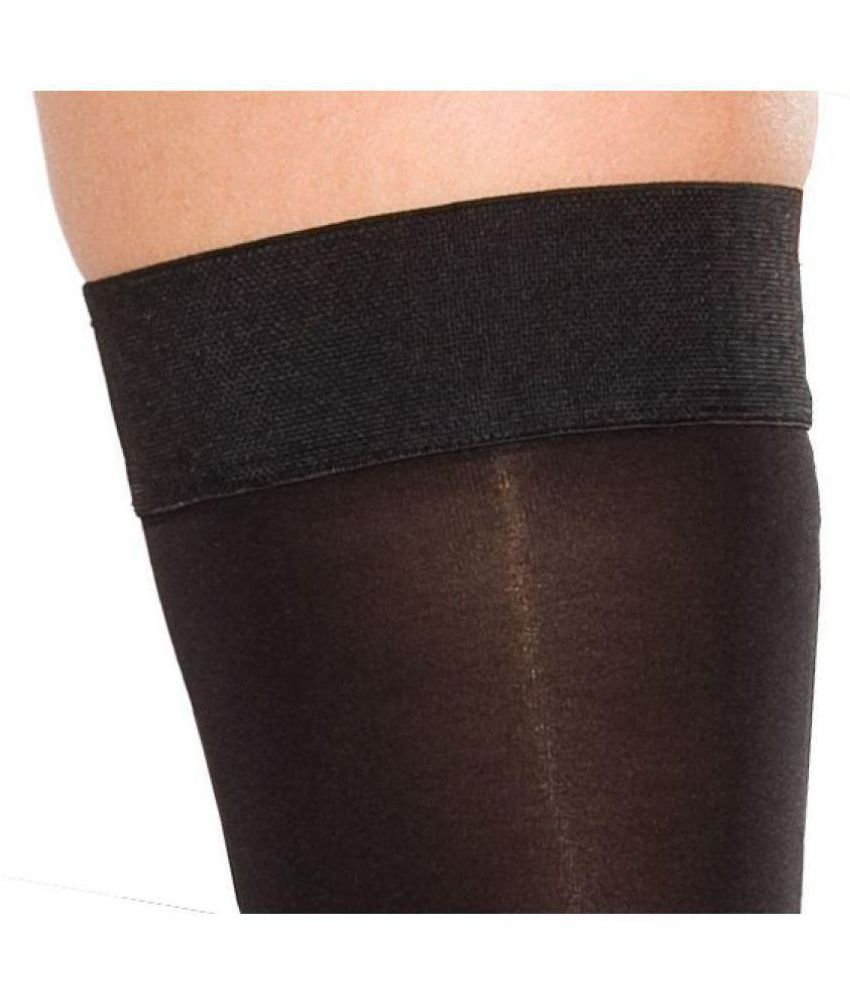 52be34a41 Golden Girl Black Opaque Thigh High Stockings - 3 Pair Pack  Buy ...