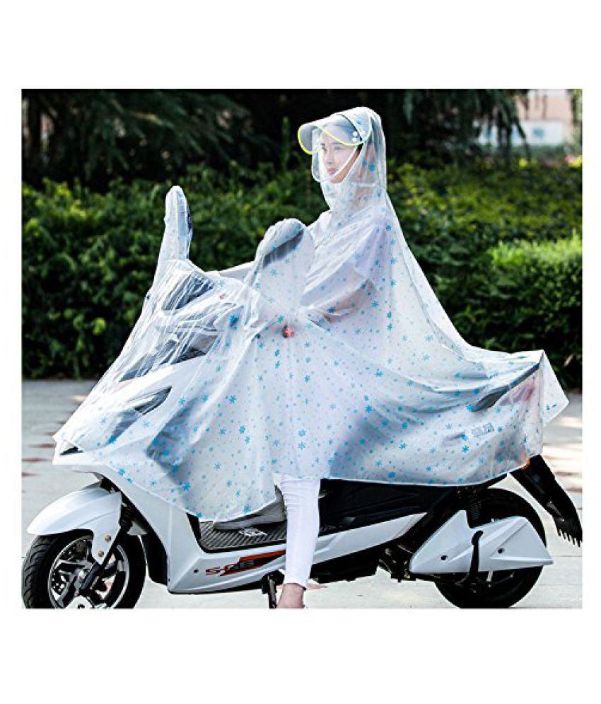 Happy2BuY PVC Long Raincoat - White