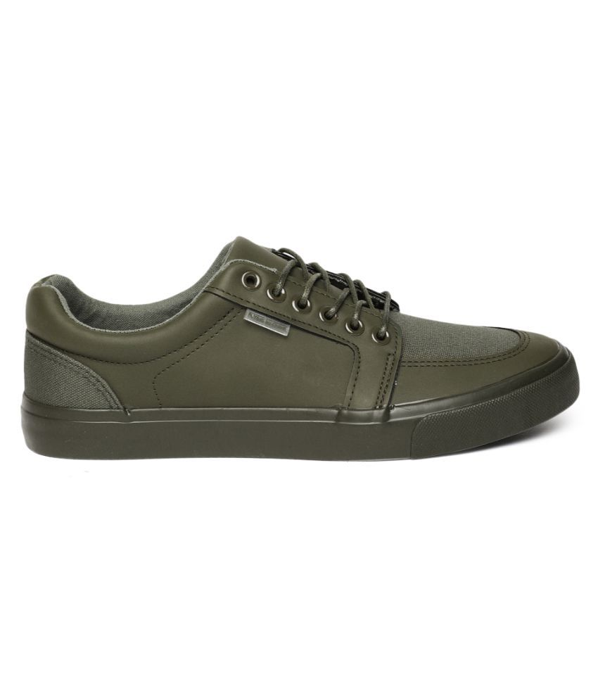 Flying Machine Sneakers Olive Casual Shoes