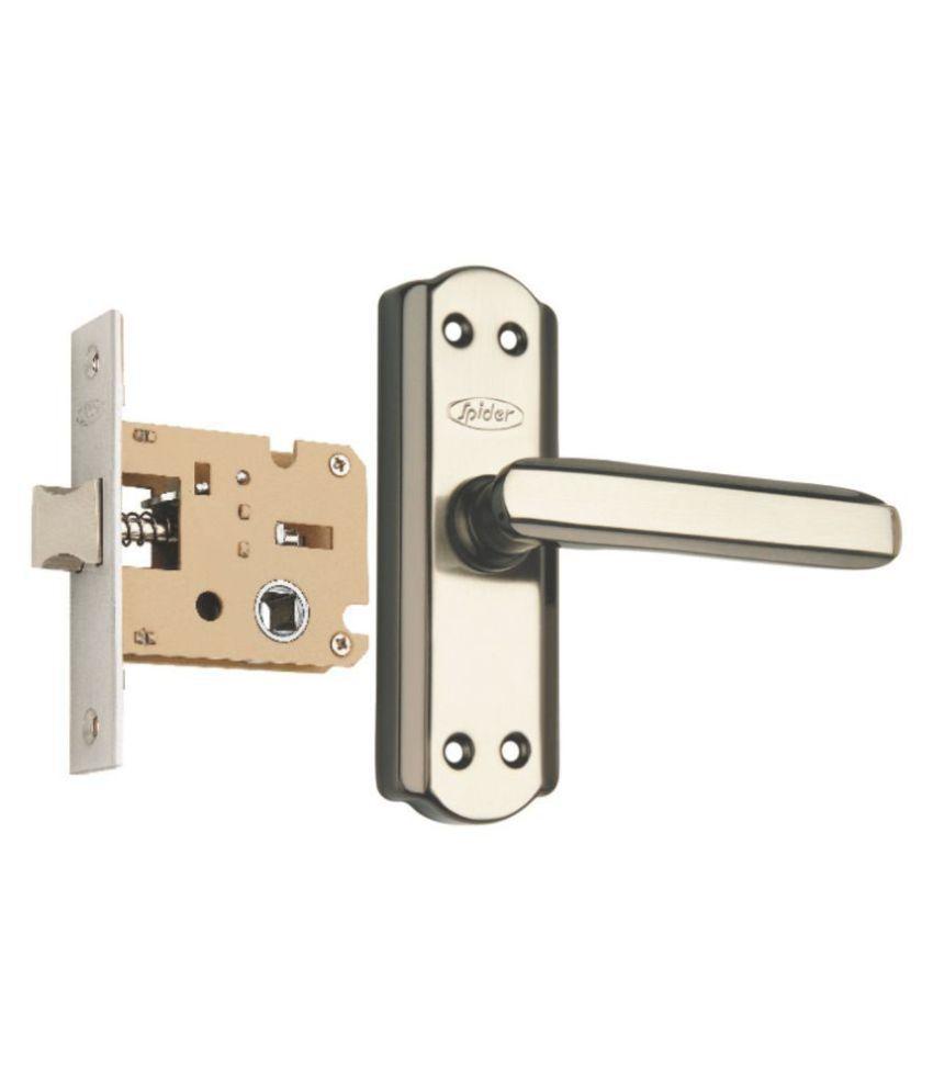 Spider Steel   Baby Latch Keyless Lock Complete Set With Black Silver Finish (KBL + S606BBS) (Bathroom Lock)(Keyless Lock)