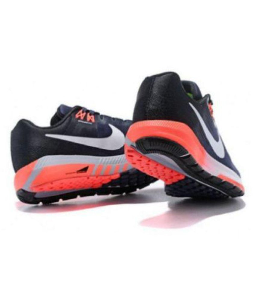 Íntimo Mojado distrito  Nike Zoom Structure 21 Running Running Shoes Black: Buy Online at Best Price  on Snapdeal