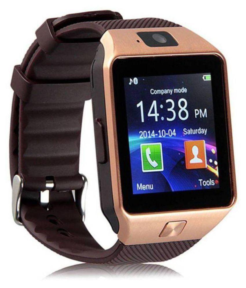 Dz09 Dz09 Smart Watches Gold Wearable Smartwatches Online At Low