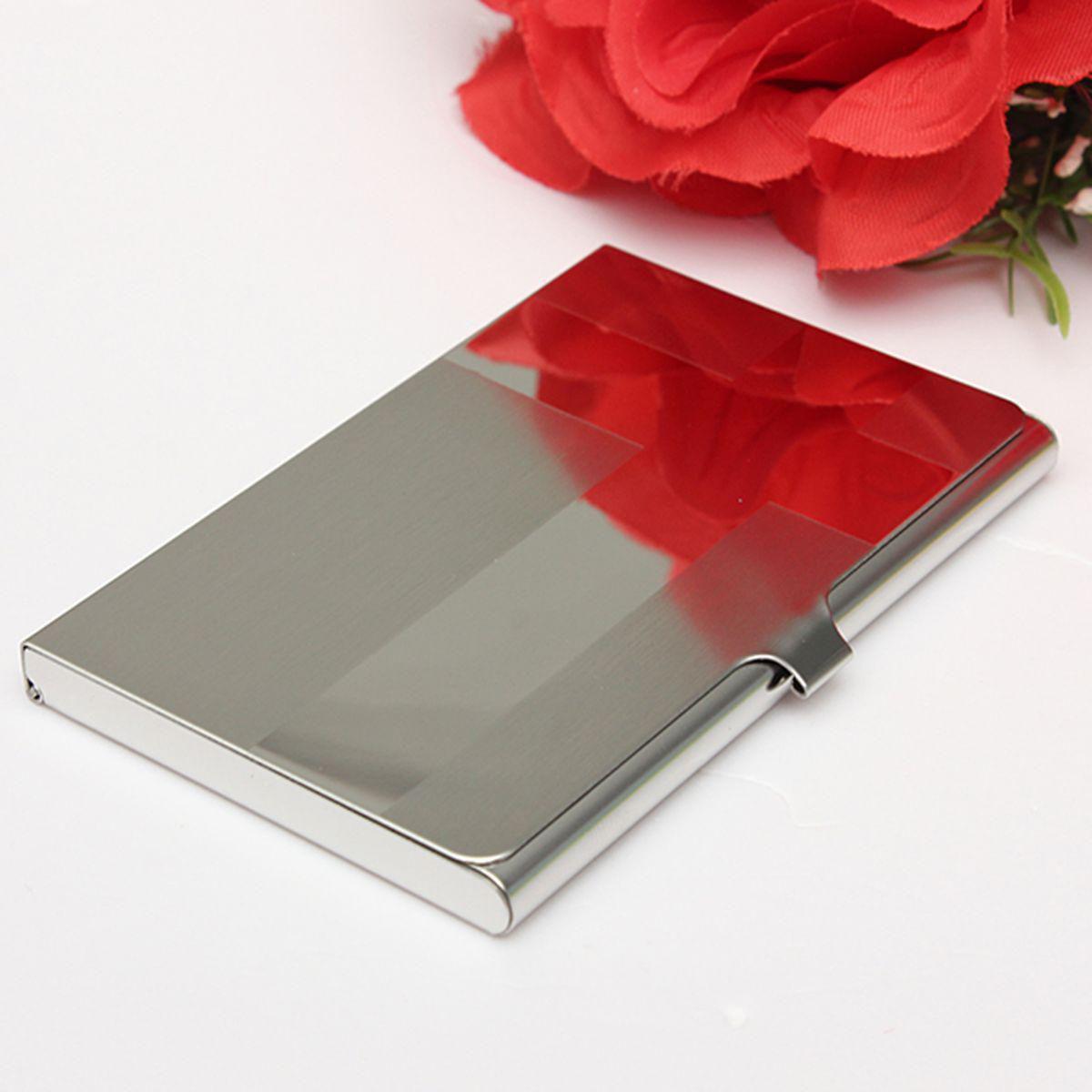 Elegiant Stahl Silber Aluminium Kartenetui Business Card