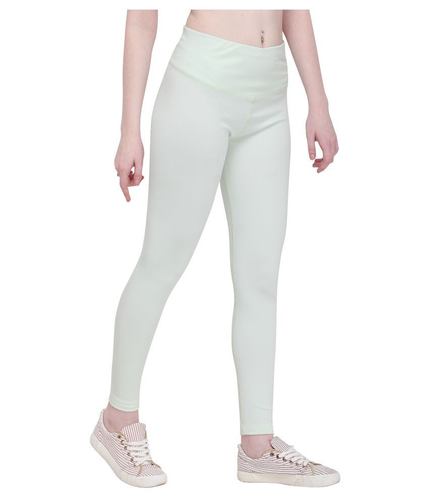 She Knows It Polyester Tights - Sea Green