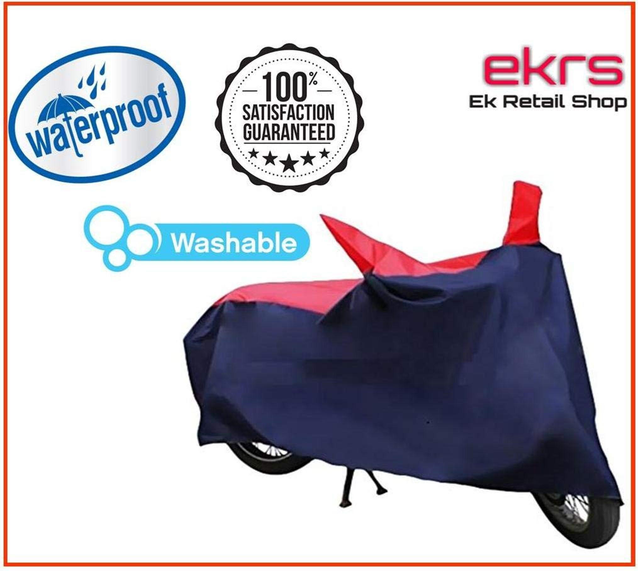 EKRS Nevy/Red Matty Waterproof Bike Body Cover for Hero Duet VX