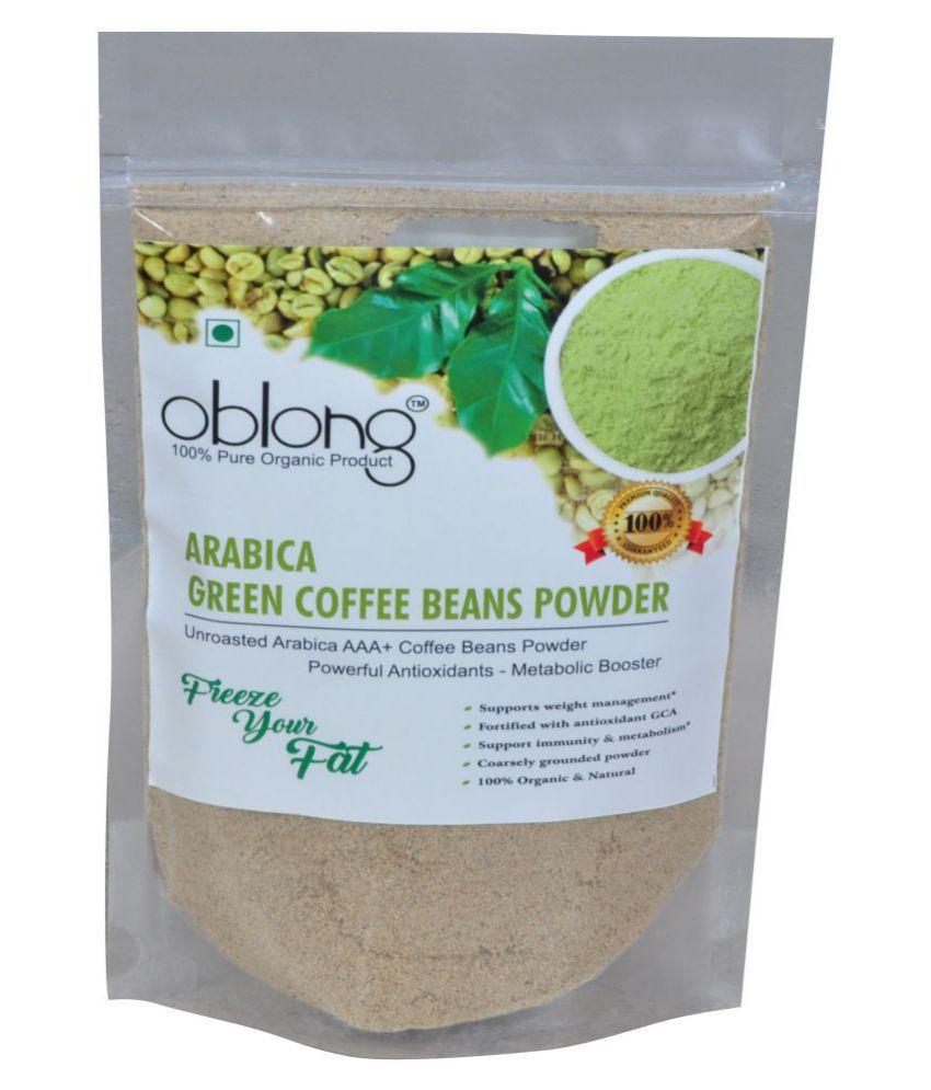 Oblong Premium Quality Green Coffee Powder 500 gm Fat Burner Powder