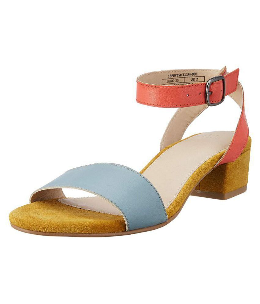 United Colors of Benetton Multi Color Block Heels