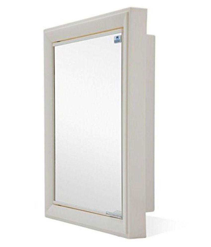 buy nilkamal gem mirror plastic wall mount cabinet ivory plastic rh snapdeal com