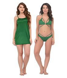 89b2639c9fa Quick View. You Forever Satin Nightsuit Sets - Green