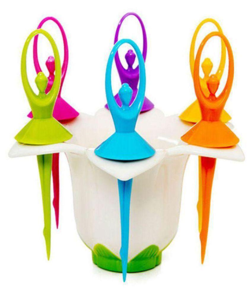 Vaaman 6 Pcs Plastic Fruit Fork: Buy Online at Best Price ...