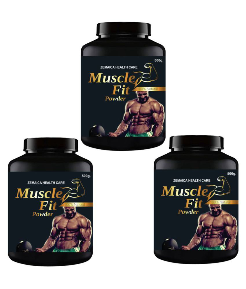 VITARA HEALTHCARE Muscle Fit Weight Gainer Powder 1500 gm Pack of 3