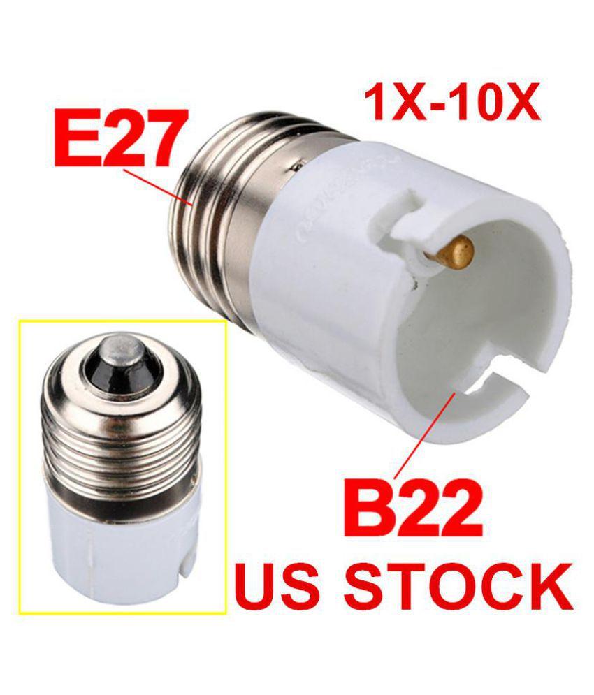 Light// Lamp Fitting  Adapter//Converter B22//BC To E27// ES Edison Screw Fittings
