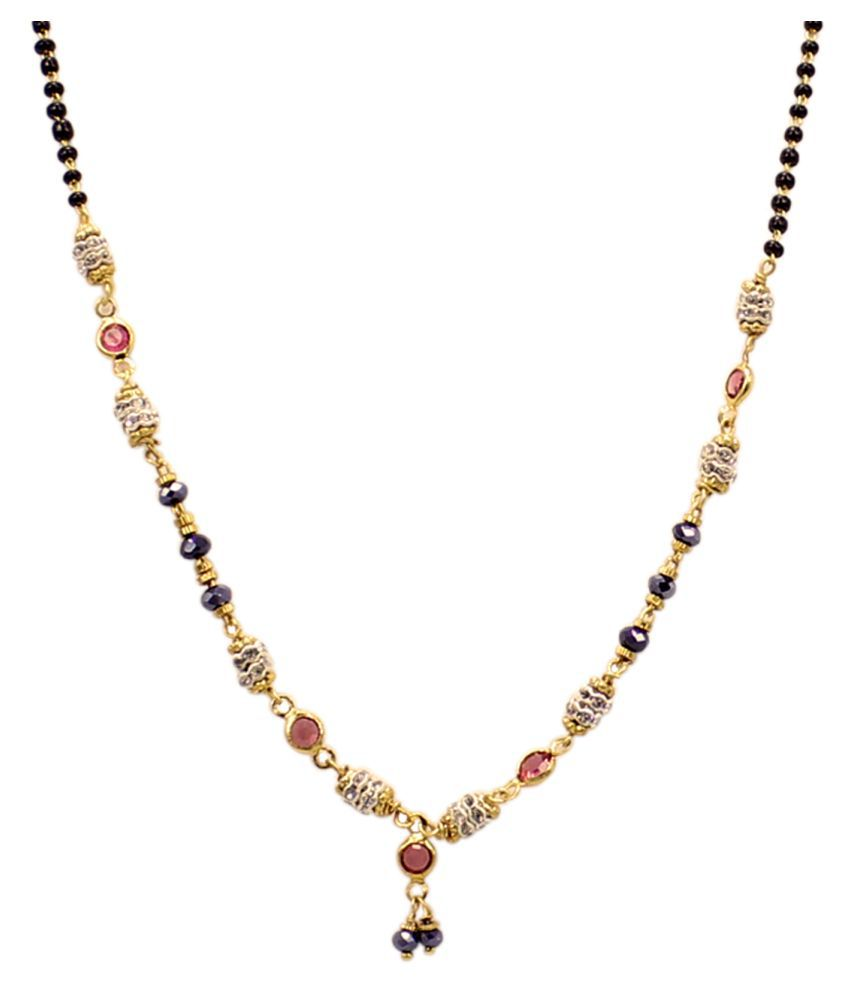 Epyz Mangalsutra Gold Plated Artificial Jewellery for Women