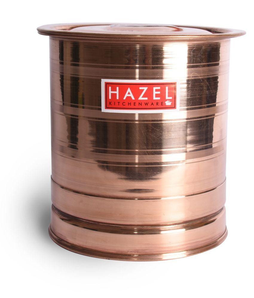 Hazel Pawali Tank Copper Water Container Set of 1 12000 ml