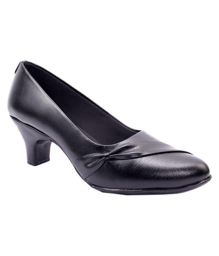 Rimezs Black Kitten Heels