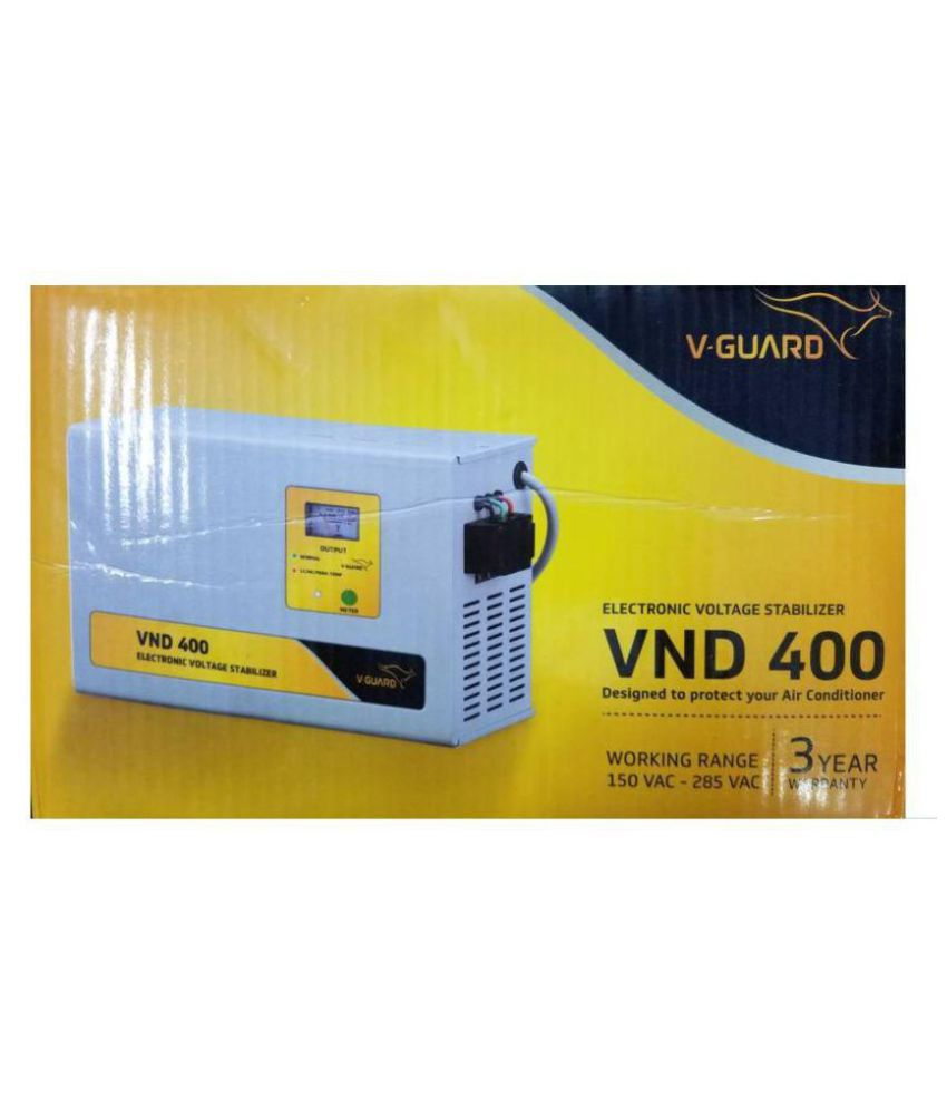 V GAURD VND400 Suitable For AC  Above 1.5 Ton  Stabilizer