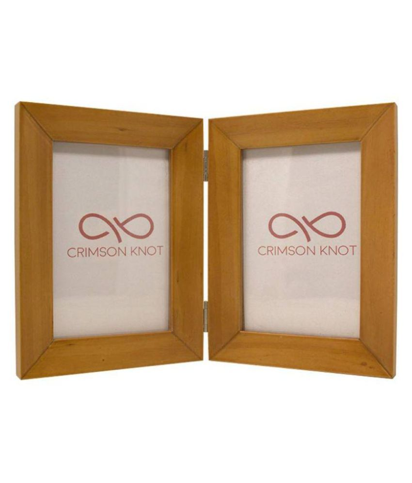 Crimson Knot Wood Beige Collage Photo Frame - Pack of 1