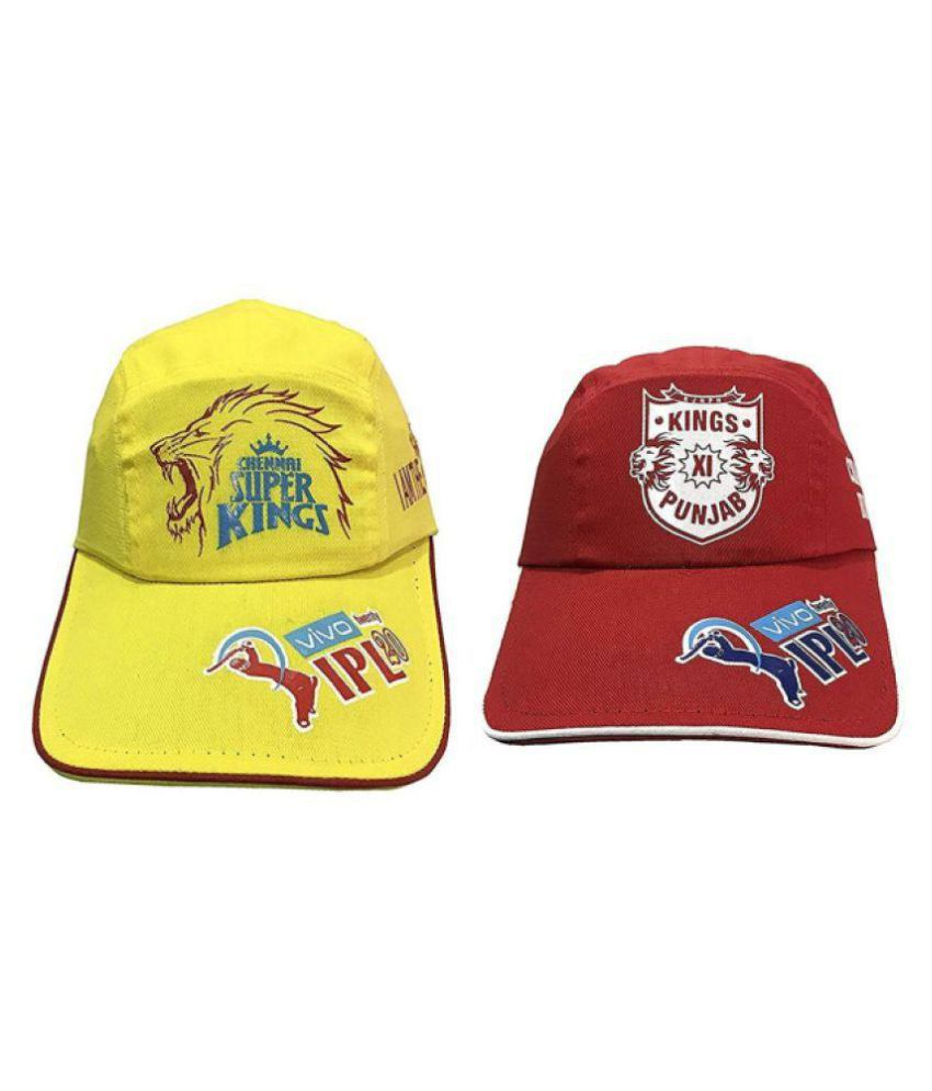 f7c0b0151db98 Chennai Super Kings + Kings XI Punjab IPL T20 Caps: Buy Online at Low Price  in India - Snapdeal