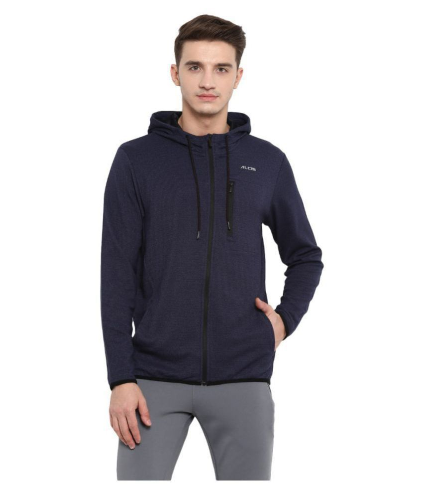 Alcis Navy Polyester Terry Jacket Single Pack