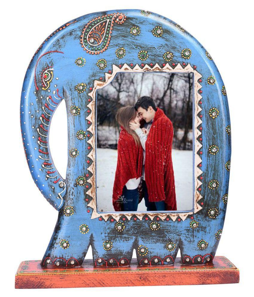 ZODY Wood Blue Single Photo Frame - Pack of 1