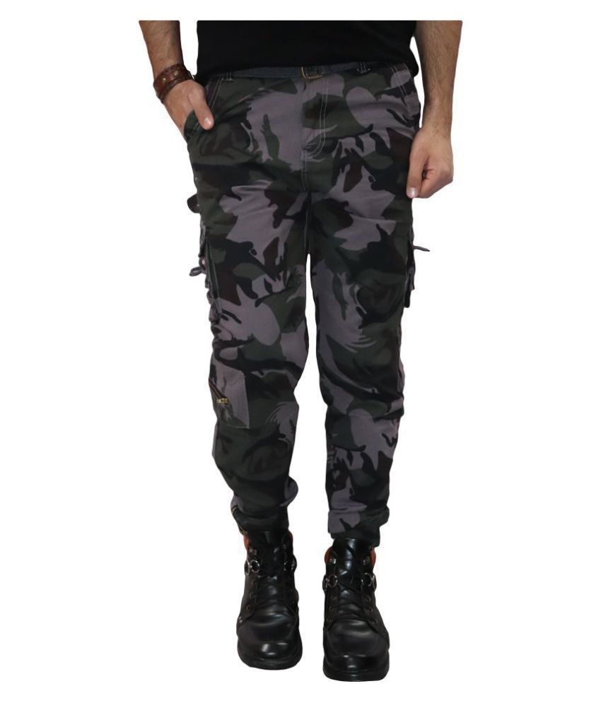 Urban Legends Purple Regular -Fit Flat Cargos