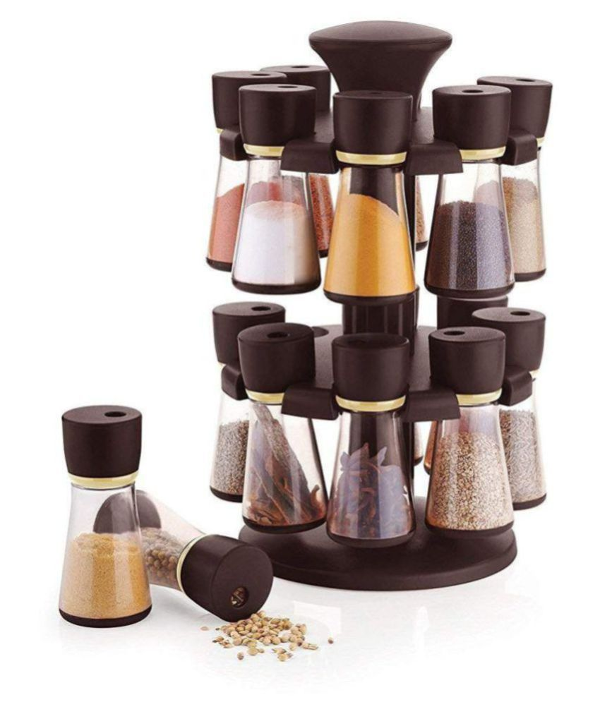 analog kichenware 16 jar spice rack Polycarbonate Spice Container Set of 16 50 ml