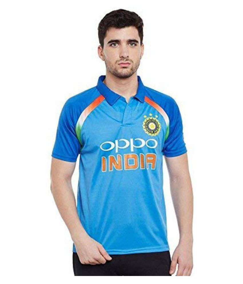 India Cricket Blue Polyester Jersey