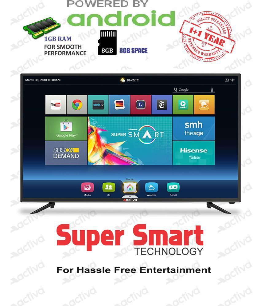 7b32a661b0f Buy Activa ACT-50 127 cm ( 50 ) Smart Android Full HD (FHD) LED Television  With 1+1 Year Extended Warranty Online at Best Price in India - Snapdeal