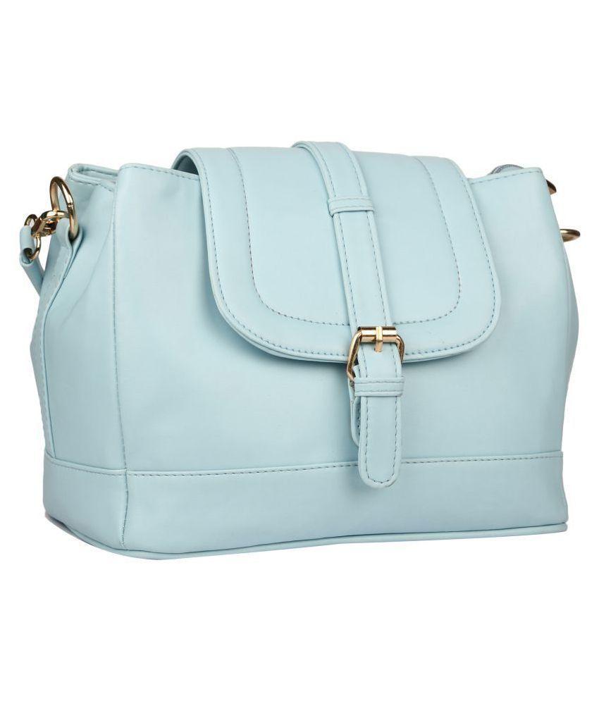 ARFA FASHIONS Green P.U. Sling Bag