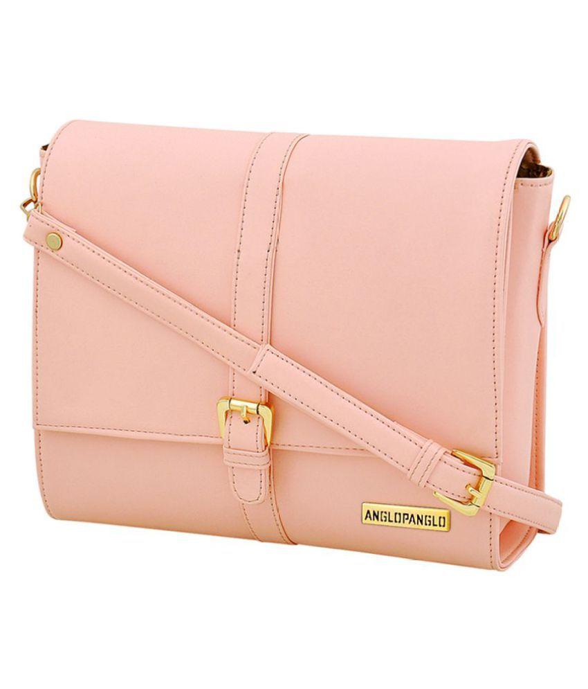 Anglopanglo Pink P.U. Sling Bag