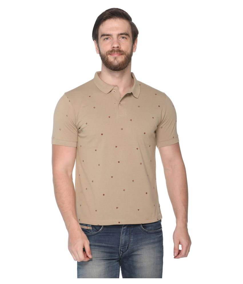 8bfbd6429d67 Colors And Blends Beige Regular Fit Polo T Shirt - Buy Colors And Blends  Beige Regular Fit Polo T Shirt Online at Low Price - Snapdeal.com